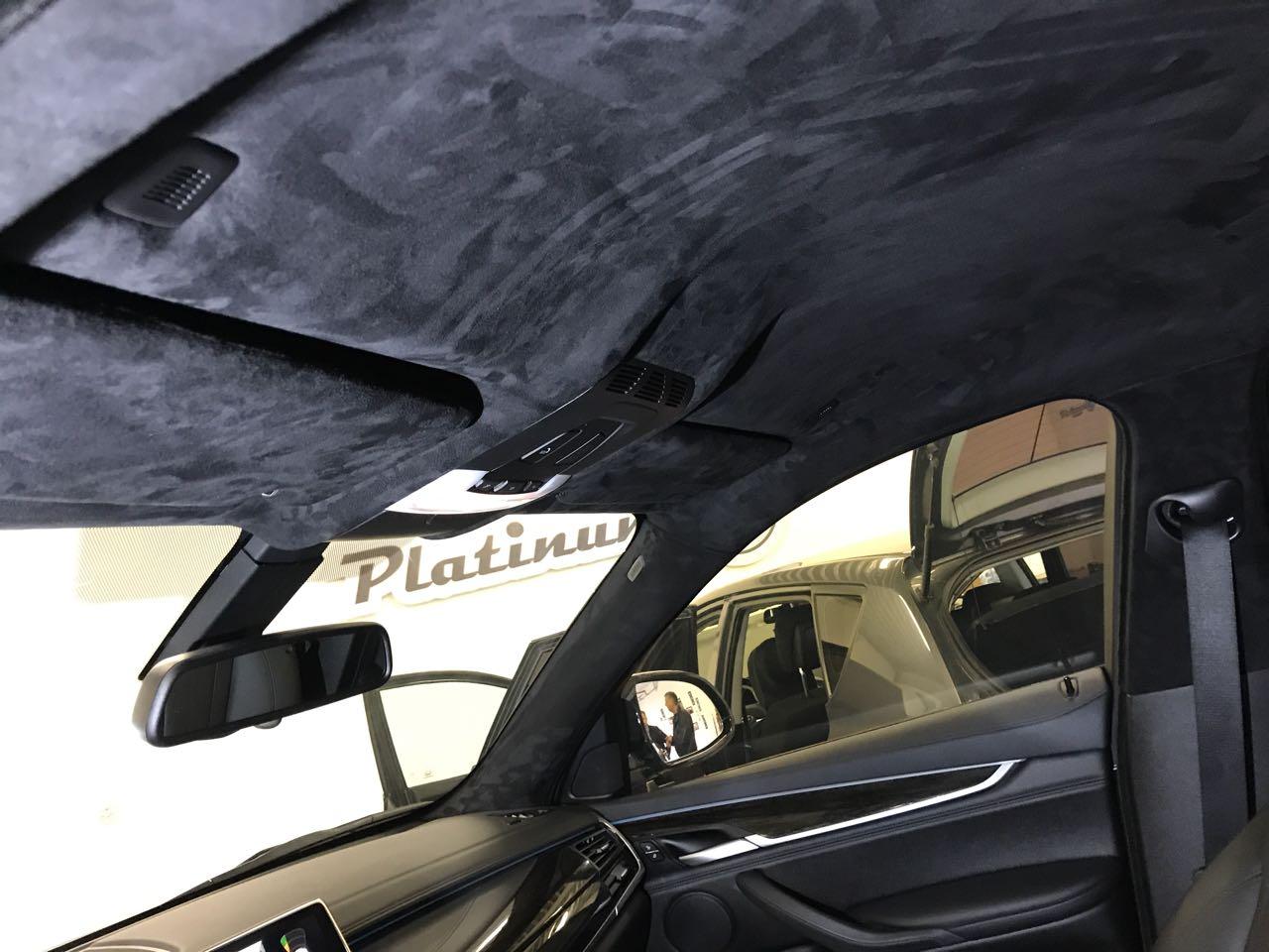 Обтянуть потолок авто алькантарой